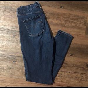 Levi's high waist skinny jeans